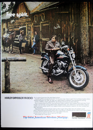 1974 Harley-Davidson FX-1200 magazine advertisement