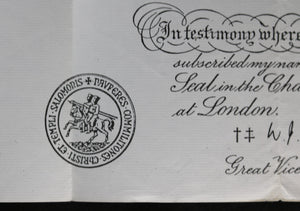1980 Freemason admission into Knights Templar