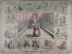 19th century British satirical print 'This House to Let'