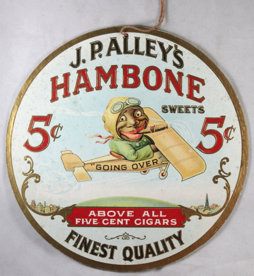 Advertising for J.P. Alley's Hambone Cigars (Black Americana) @1927