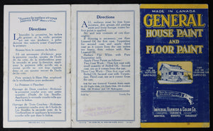 Advertising pamphlet for General House & Floor Paint (Canada) @1928