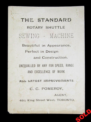Standard Sewing Machines trade card - Canada (1884-1899)
