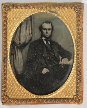 Ambrotype photo of sitting gentleman @1850-60s