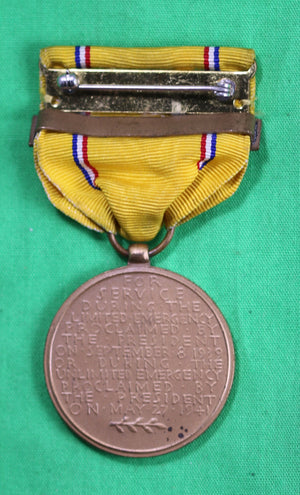 American Defense Service Medal with 'Fleet' clasp (1939-41)