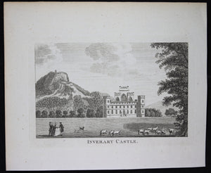 Antique print 'Inverary Castle' 18th century