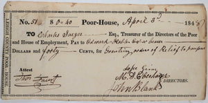 April 3rd 1848 Allentown PA Lehigh County Poor-House pauper relief