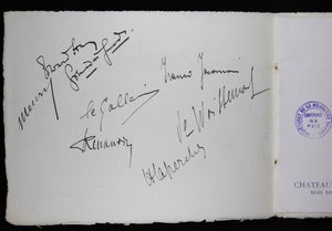 Autographs of Bulgarian delegation to WW1 Paris Peace Conference 1919, historical date