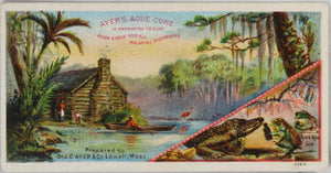 Ayer's Ague Cure - advertising trade card (early 1900's)
