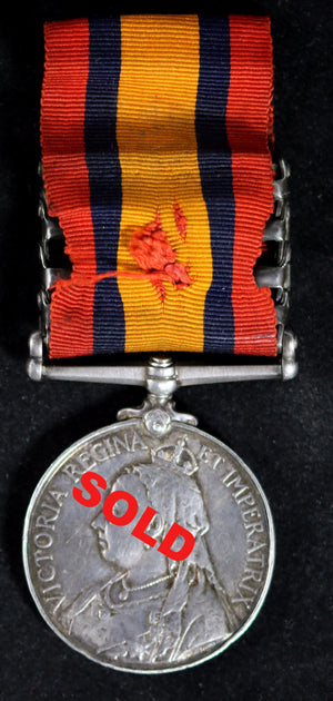 Boer War Queen's S.A. medal & four clasps (Argyll and Sutherland Highlanders)