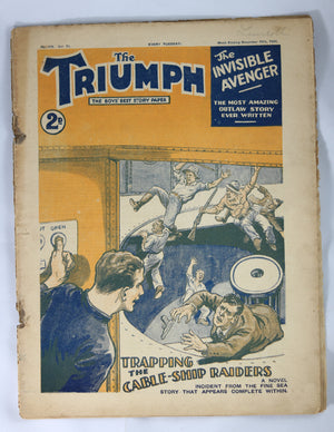 British Boys story paper and comic 'The Triumph' #478 December 16,1933