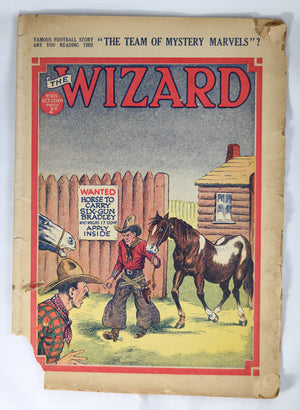 British Boys story paper and comic The Wizard #621 October 27, 1934