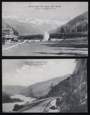 Canada CPR set of three postcards British Columbia early 1900s