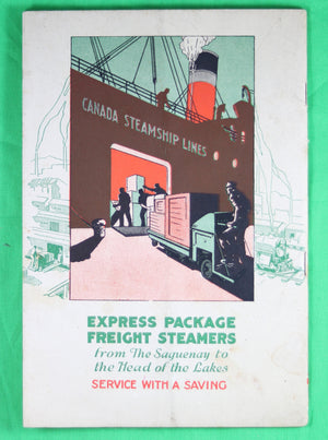 Canada Steamship Lines - Song Book @1930s