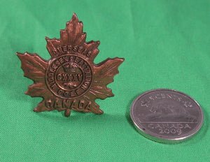 Canada WW1 135th (Middlesex) Bataillon collar badge