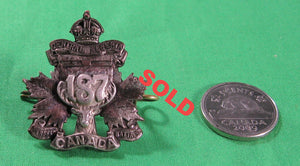 Canada WW1 187th (Central Alberta) Bataillon Officer's collar badge