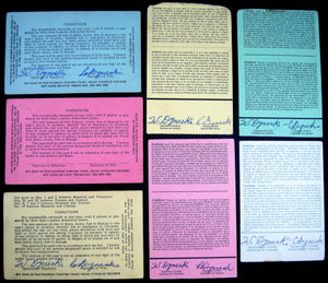 CNR Grand Trunk Railway Canada: lot of 7 system passes for conductor (1951-1979)