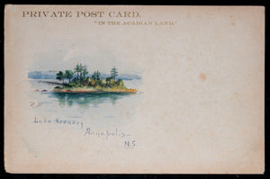 Canada postcard with watercolour of lake, Annapolis N.S (early 1900s)