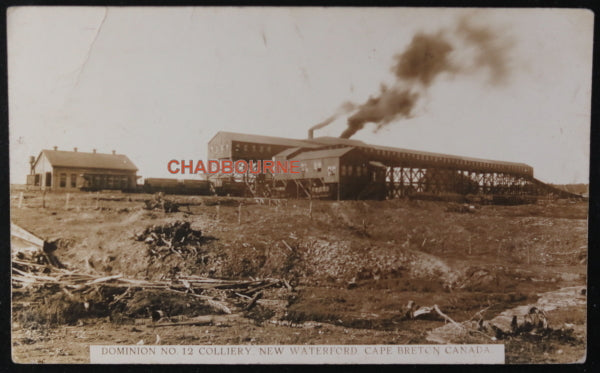 Canada photo postcard infamous No. 12 Colliery Cape Breton N.S. c.1916
