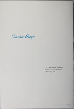 Canadian Pacific Steamships Menu Empress of England - 1962