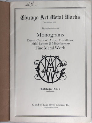 Chicago Art Metal Works Catalogue (early 1900's)