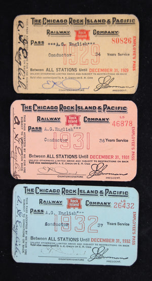 Chicago, Rock Island & Pacific Railway Company system passes 1929-31-32