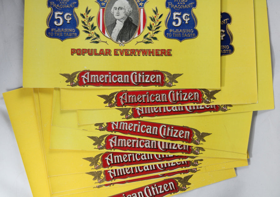 Cigar box inner label 'Hand Made American Citizen 5¢' @1920