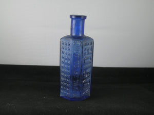 Cobalt Blue Coffin Poison bottle