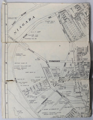 Complete Street Guide to Buffalo & Niagara Falls with map 1955