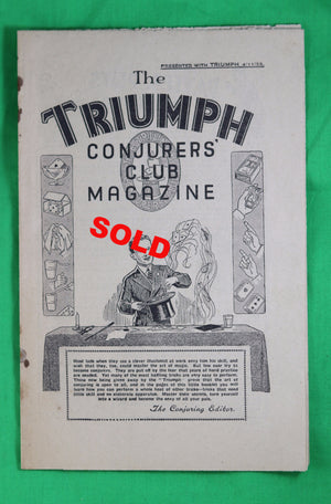 Conjurer's Club Magazine - British Boys Magazine The TRIUMPH 1933