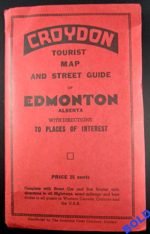 Croydon Tourist map of Edmonton (1950's?)