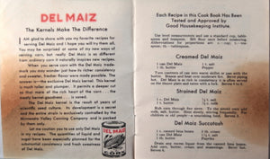 Del Maiz Corn - Advertising pamphlet with recipes (~1940s)