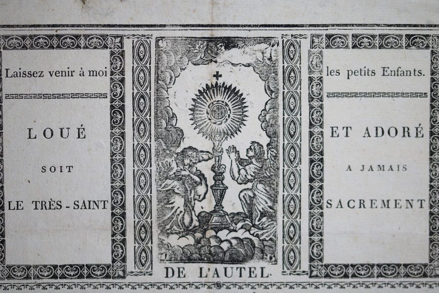 Document 1818 souvenir de la Premiere Communion (Lons-le-Saunier, Jura)