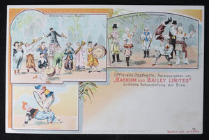 Early 1900s Barnum and Bailey clowns postcard (German)