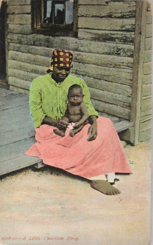 Early 1900s Black Americana postcard 'A Little Chocolate Drop'