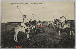 Early 1900s RPPC 'Typical Canadian Sport, A Game of Polo'