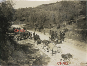Early 1920's car rally in South of France.  Ancienne rallye automobile sud de France