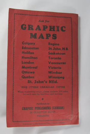 GRAPHIC Map and Street Guide of Ottawa (1950s)