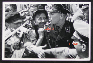 German propaganda photograph Hitler in a crowd (prewar)
