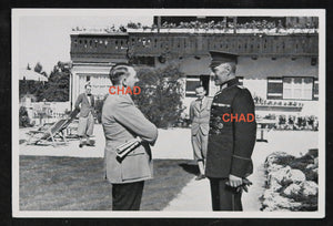 German propaganda photograph Hitler meeting army officer (pre-war)