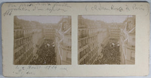 Guerre 14-18 Paris photo arrrestation d'un espion 2 aout 1914