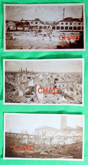 Guerre 14-18 lot six (6) photos 1917 des ruines de REIMS