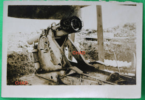 Guerre 14-18 photo 1916 Somme obusier de 155  WW1 155 howitzer at the Somme