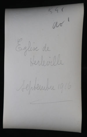 Guerre 14-18 photo 1916 église de Herleville (Somme)