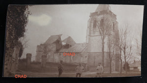 Guerre 14-18 photo 1916 ruines église d'Arvillers (Somme)