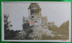 Guerre 14-18 photo 1918 ruines de l'église à Quesmy (Oise)