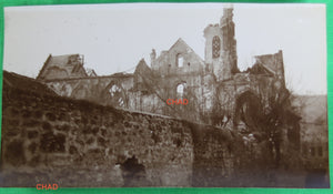 Guerre 14-18 photo 1918 ruines église à Vailly (Aisne) #2
