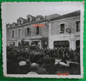 Guerre 39-45 photo parade militaire Luçon France 1945