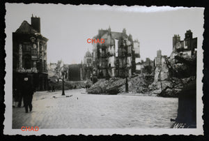 Guerre 39-45 photo ruines d'Orléans @1940