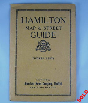 Hamilton Map and Street Guide (Ontario Canada)  1942