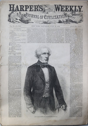 Harper's Weekly newspaper - July 24th 1858